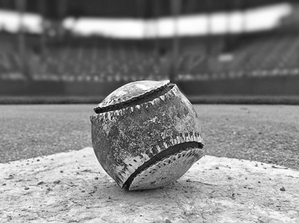 "Image of old baseball with Babe Ruth quote: ""Yesterday's home runs don't win today's games."" If you had great web design in years past, it doesn't mean your site is optimized by today's standards."