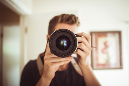 Image of photographer. Inbound marketing needs vary by industry.