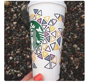 Image of the winning entry for the White Cup Content by Starbucks