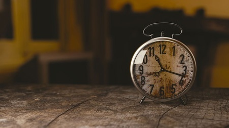 Image of an alarm clock. It takes time to establish a social media presence.