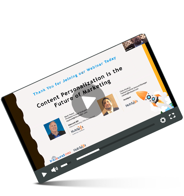 Content Personalization webinar recording from Inbound 281.